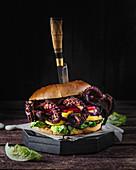 Octopus burger