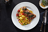 Saltimbocca with tagliatelle (Italy)
