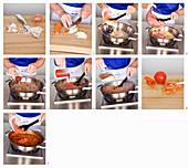 Making bolognese sauce