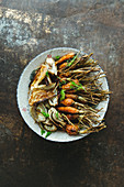 Fried carrots and fennel