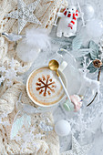Coffee and Christmas decorations