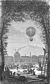 First Manned Hydrogen Balloon Flight, 1783