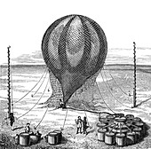 Filling Hydrogen Balloon, 19th Century