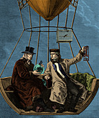 Gay-Lussac and Biot in Hot Air Balloon, 1804