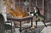 Isaac Newton's Lab Fire, 18th Century