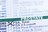 PSA test requisition