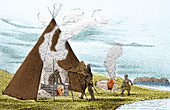 North American Indian Vapour Baths, c. 1830s