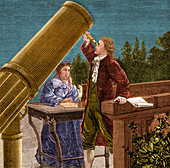 William and Caroline Herschel, German Astronomers