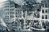 Frozen Remains of Barnum's Museum, 1868