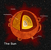 Structure of Sun, Illustration