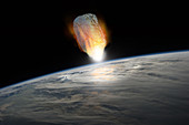 Asteroid About to Collide with Planet