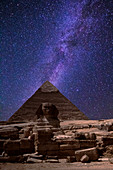 Great Sphinx Pyramid and Milky Way