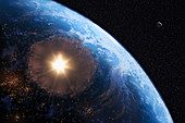 Comet Impacting Earth, Concept