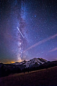 Milky Way, ISS and Mt. Rainier
