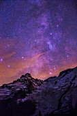 Sagittarius Milky Way and Mt. Rainier