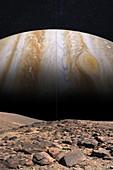Jupiter from Amalthea