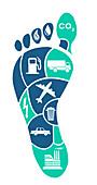 Carbon Footprint, Conceptual Image