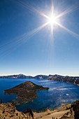 Crater Lake and Sun