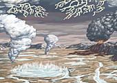 Earth's Origin, Illustration