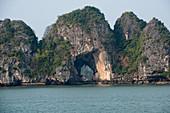 Limestone Karst in Halong Bay, Vietnam