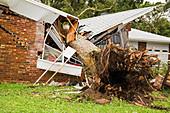 Hurricane Damaged Residential Home