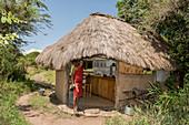 Maasai Man at Bungalow Cafe, Kenya