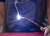 Lighting a Strip of Magnesium