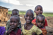 Smiling Maasai Children, Kenya