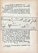 Sperm observations by van Leeuwenhoek, 1700