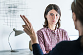 Woman undergoing EMDR therapy
