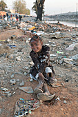 Girl in a polluted area of Antananarivo