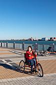Adaptive bicycle user