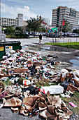 Litter pollution, Miami, Florida, USA