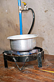 Methane powered stove, Uganda
