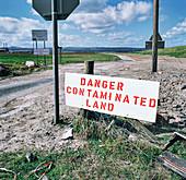 Land reclamation site, Deeside, Wales, UK