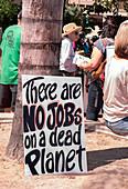 Placard, Earth Day, Arizona, USA