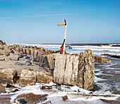 Coastal erosion at Hemsby, Norfolk, UK