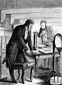 Oersted's discovery of electromagnetism, 1820