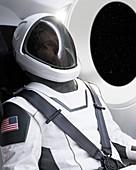 Spacesuit for the Crew Dragon spacecraft, 2018