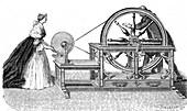 Nollet's electrostatic generator, 1747