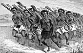 Maori war dance, 1880s