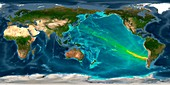 Tsunami from 2010 Chile earthquake, computer model