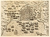 Drake's attack on Santo Domingo, 1586