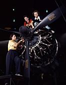 WWII, Women Work On C-47 Skytrain, 1942