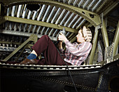 WWII, Female Riveter, A-20 Bomber, 1942
