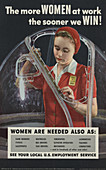 WWII, Female Workforce, U.S. Employment Service, 1942