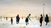 Kolf Players on Frozen River, 1625