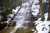 Bear Creek Waterfalls With Fog