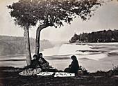 Native American Women and Niagara Falls, 1880