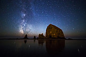 Haystack Rock and Milky Way